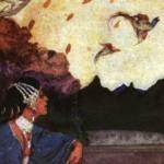"Stray Birds, (New York: The Macmillan Company, 1916), frontispiece by William Andrew (""Willy"") Pogány"