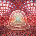"""Net of Being"" by Alex Grey, Oil on Linen, 90"" x 180"", (2002-2006)"