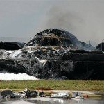 "B-2 Spirit ""Stealth Bomber"" crashed on takeoff (Andersen Air Force Base, Guam: February 26, 2008)"