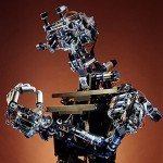 COG, a humanoid robot created by Rodney Brooks and the MIT Artificial Intelligence Lab