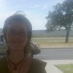 Fenix, tree, and car (West Texas: June 20, 2010 3:28:40pm CST)