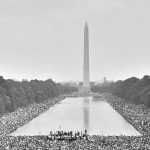 The Washington Monument and Lincoln Memorial Reflecting Pool during the March on Washington for Jobs and Freedom (Washington, D.C.: August 28, 1963)