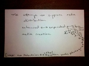 Photograph of notecard entersection by @gregoryfoster (Austin, Texas: January 29, 2011 late pm)